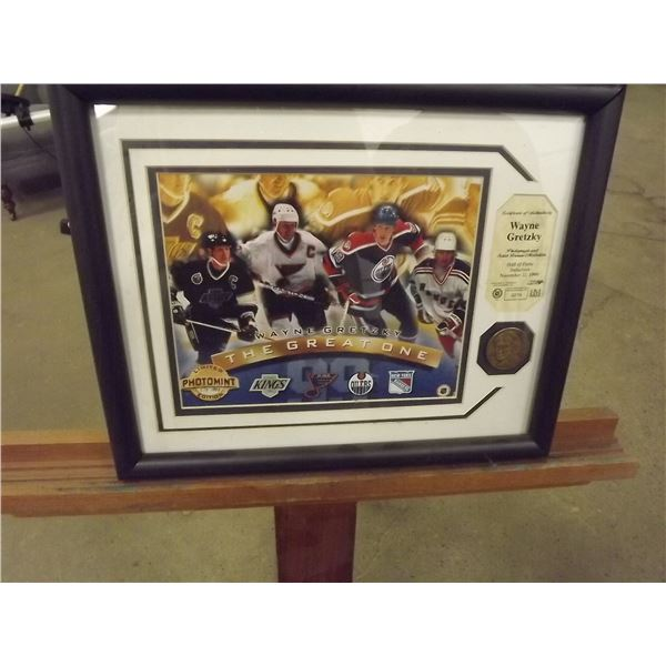 Wayne Gretzky The Great One photo. Limited edition #278 of 1,998. With Certificate of Authenticity.