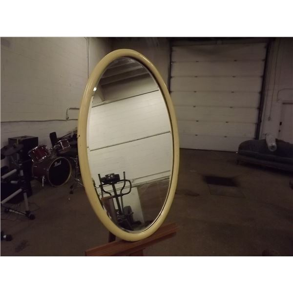 Antique oval and beveled Mirror (O)