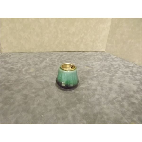 Blue Mountain Handcrafted Pottery Votive holder Marked (AL)