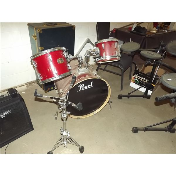 Pearl ELX Drum kit with snare drum stand (O)