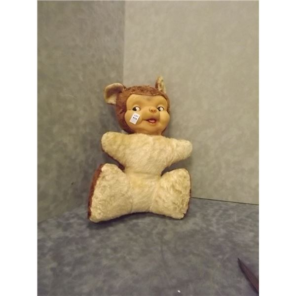 Vintage Rubber faced Teddy Bear (PM)