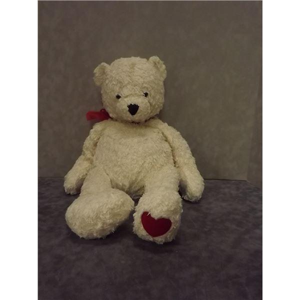 Vintage white teddy bear (PM)
