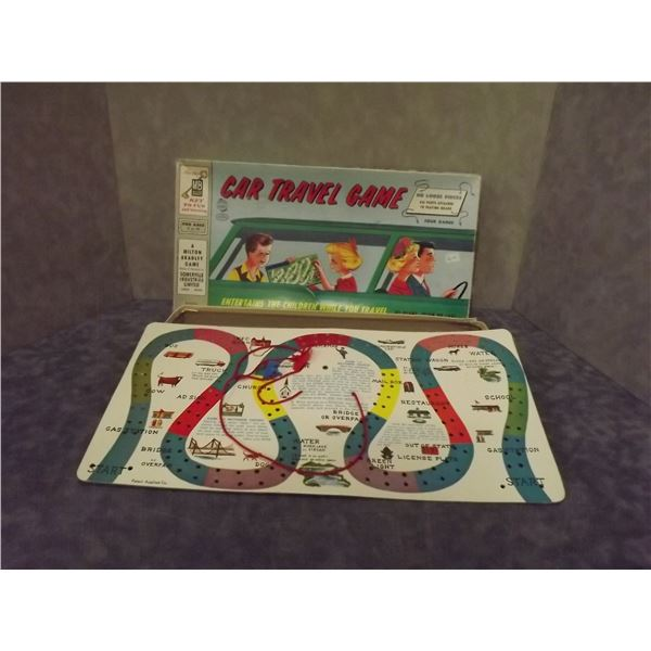 Vintage 1960's Car Travel Board Game (PM)