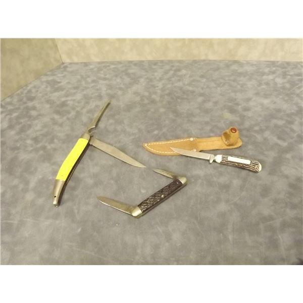 3 Vintage Pocket Knives (PM)