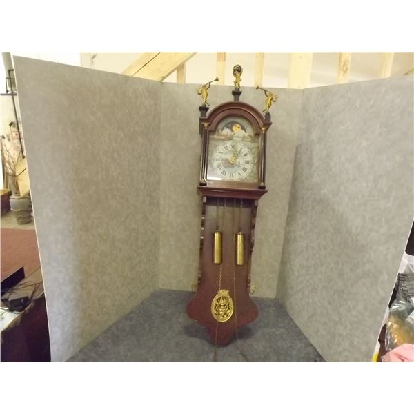 Antique Moon Faced Grandmother Clock (DQ)