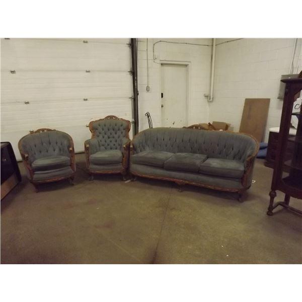 3 Peiece Antique Victorian Living Room Set (DQ)