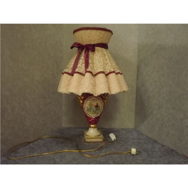 Antique Lamp and Shade (DQ)