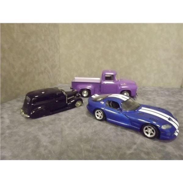3 Diecast Hot Rod Cars (PH)