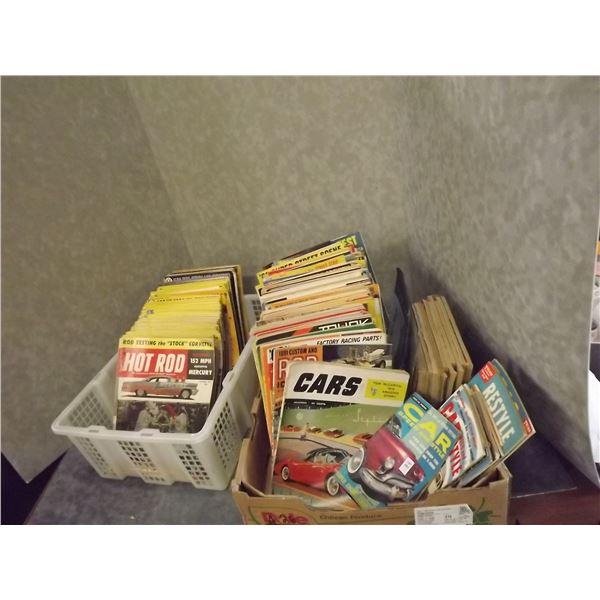 Large lot of 1950's & 1960's Hot Rod Magazines (PH)