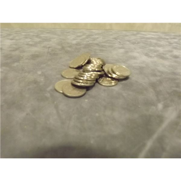 28 Nickels collector circulated (D&M)
