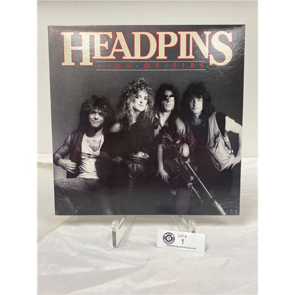Headpins (1983) Line of Fire No Scratches. In Outer Bag