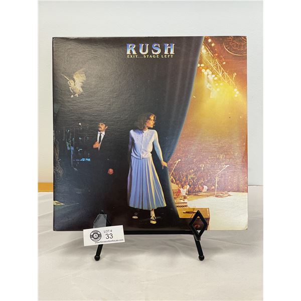 Rush (1981) Exit… Stage Left  In Outer Bag