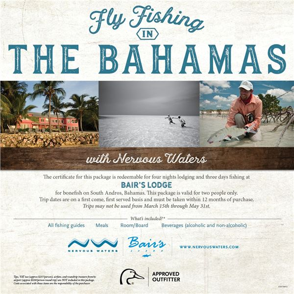 Bonefishing Trip for 2 in the Bahamas with Nervous Waters