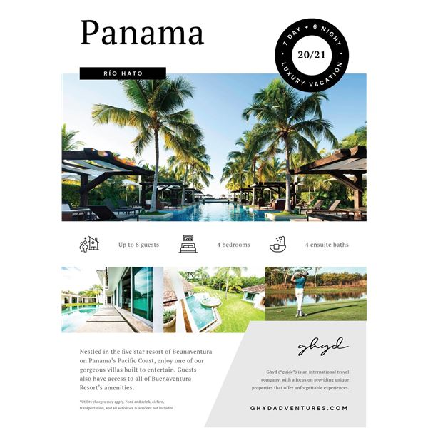 7 Day Panama Dream Vacation for 8 People