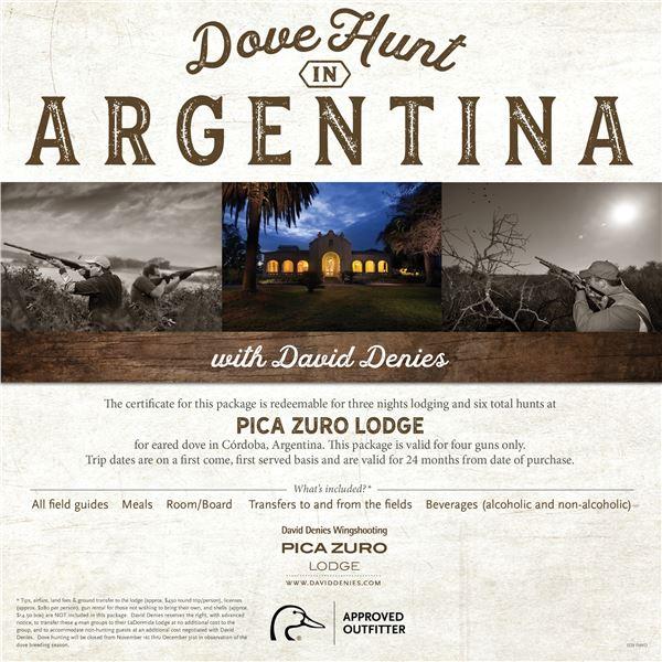 Dove Hunt for 4 in Argentina- Pica Zuro Lodge