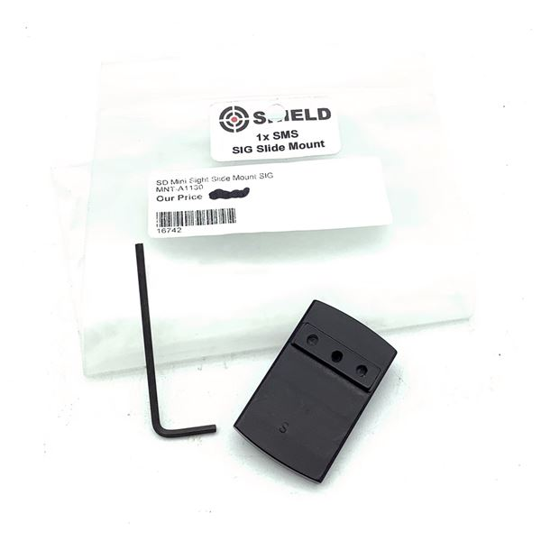Shield SMS Mini Sight Slide Mount for SIG, New