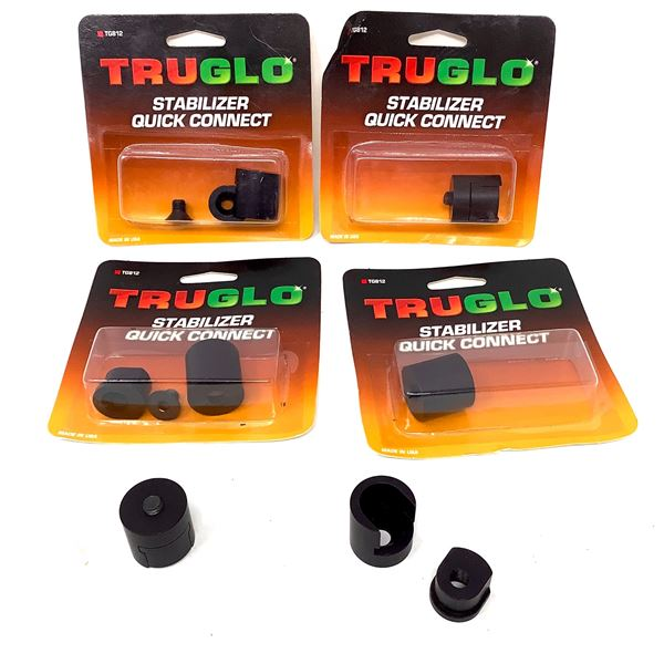 6 X TruGlo Quick Connect Stabilizer, New