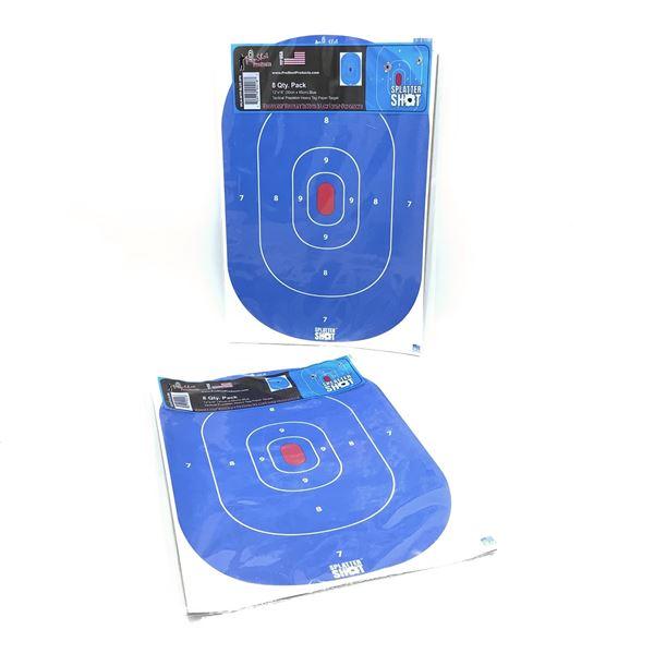 Pro Shot Splatter Bullseye Targets, 8 Pk X 2