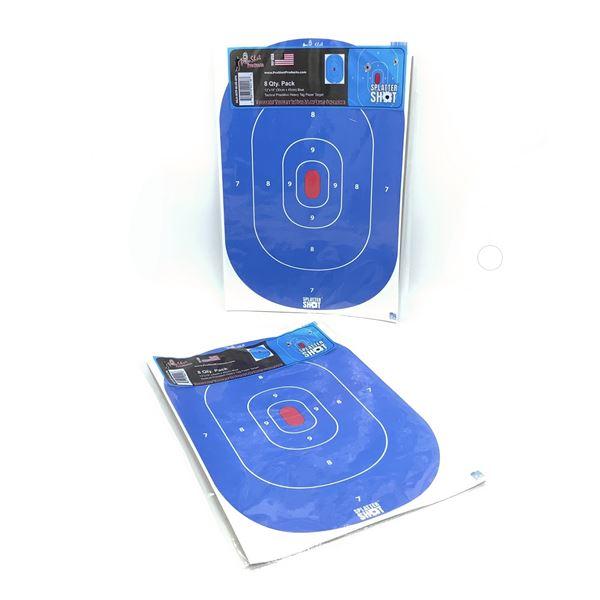 Pro Shot Splatter Bullseye Targets, 8 Pk
