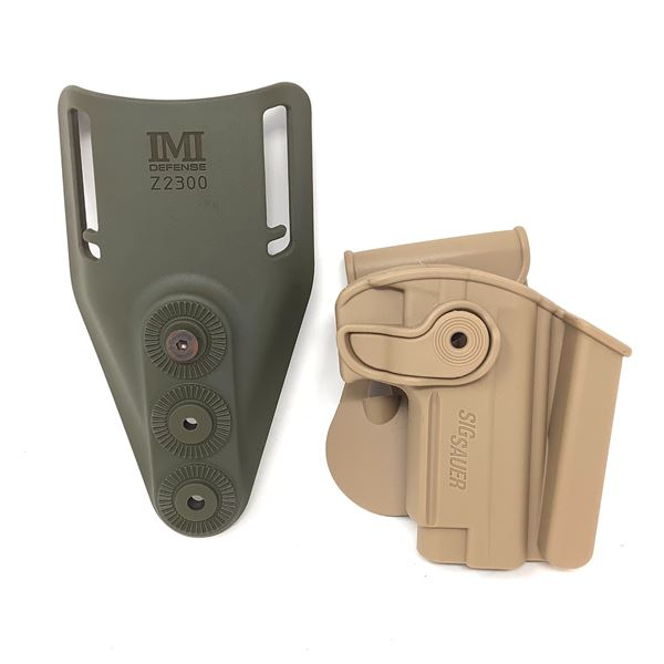 IMI Defense Z2300 ODG and IMI Retention Paddle Holster for Sig Sauer Mosquito, Tan, New
