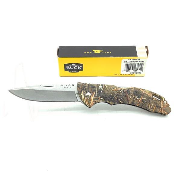 "Buck Bantam BLW Folding 3"" Camo Knife, New"
