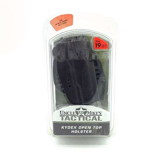 Uncle Mike's Tactical RH Holster for S & W 1911 45, Blk, New