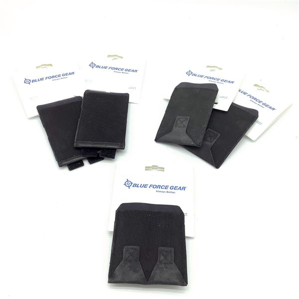 Blue Force Gear M4 Belt Pouches X 4 and Double Pistol Mag Pouch, New