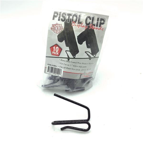 """Pistol Clips for 3/4"""" Glass, Adjustable, 10 Pk"""