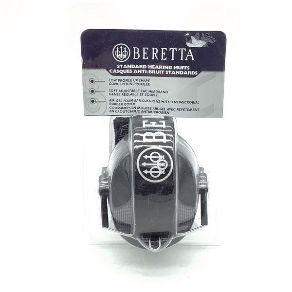 Beretta Prevail Std Hearing Muffs, Blk, New