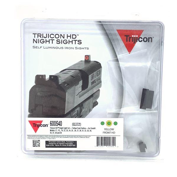 Trijicon HD Night Sights for Glock 17/ 22, Yellow, New