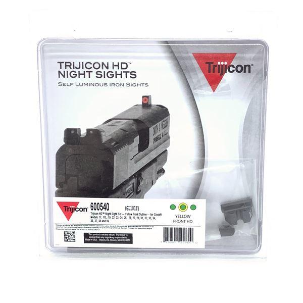Trijicon HD Night Sights for Glock 17/ 22 Yellow, New