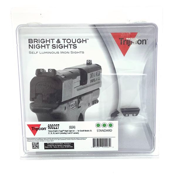 Trijicon HD Night Sights for Glock 20/ 21 Green, New