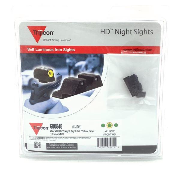Trijicon HD Night Sights for Glock 10 mm/ 45 ACP, Yellow, New