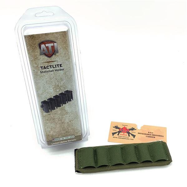 ATI Tactlite 12 Ga 5 Round Shotshell Holder and S & J Detachable Shotshell Carrier for 6 Shells