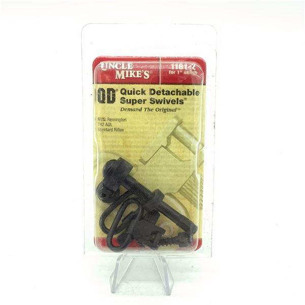"""Uncle Mike's QD 1"""" Super Swivel Set for Remington 742 ADL"""