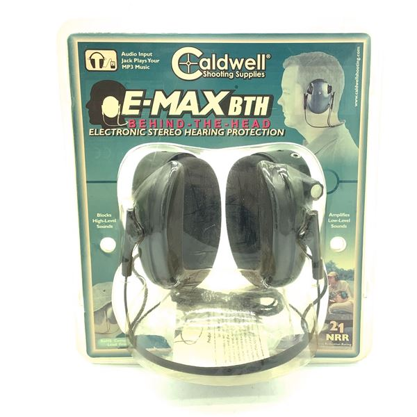 Caldwell E-Max BTH Behind the Head (Stereo) Hearing Protection 21 NRR