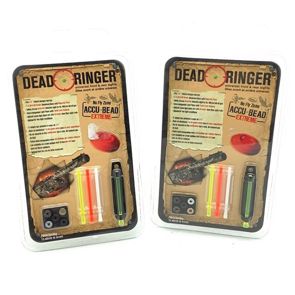 """Dead Ringer AccuBead Extreme Sight System for 1/4"""" Vent Ribbed Shotguns X 2, New"""