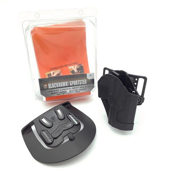 BlackHawk 415609BK-R Standard Concealment H & K USP Compact / P2000 Holster, New