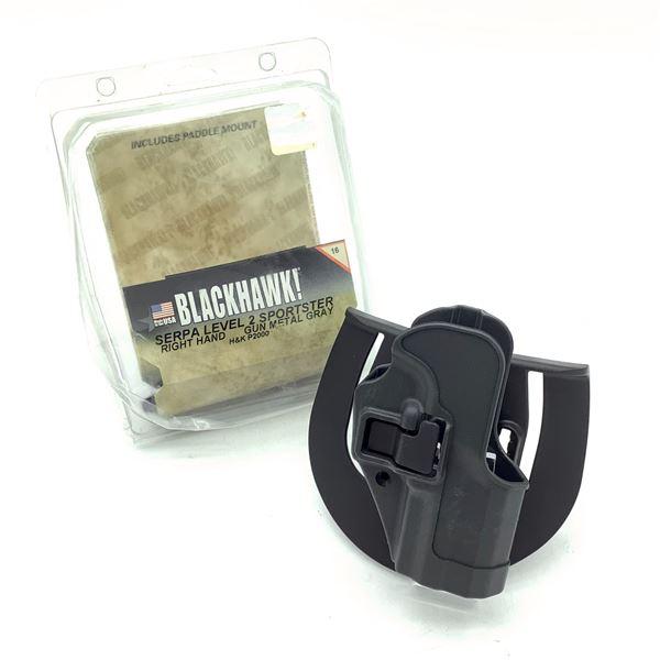 BlackHawk Serpa LVL II Sportster RH Holster for H & K P2000, Blk, New