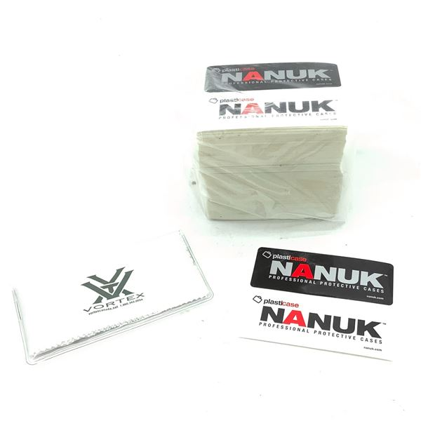 Nanuk Case Stickers and Vortex Lens Cleaner