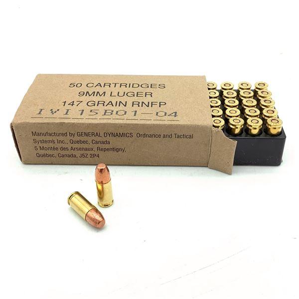 IVI 9mm 147 Grain FMJ Ammunition, 50 Rounds