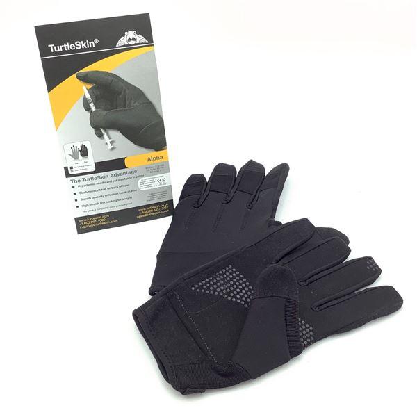 Turtleskin Alpha Gloves, Black, Large, New