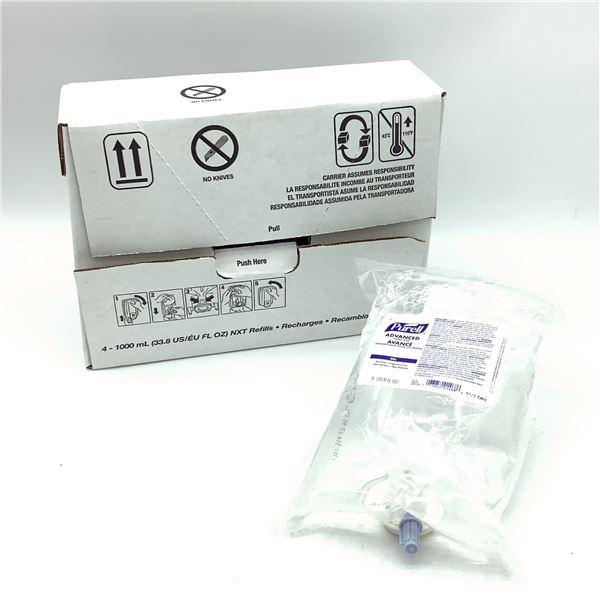 Gojo Purell Advanced Hand Rub Sanitizer, 4 X 1000 mL
