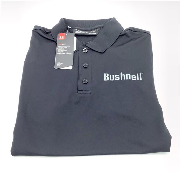 Bushnell Men's Under Armour Polo Shirt, Black, Small