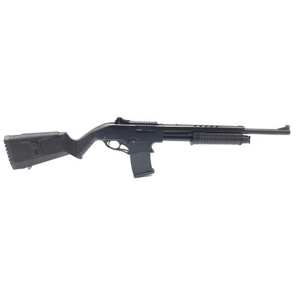"""Canuck Recon Mag Fed Pump Action Shotgun, 12ga 3"""", 20"""" Barrel, Blk, New"""
