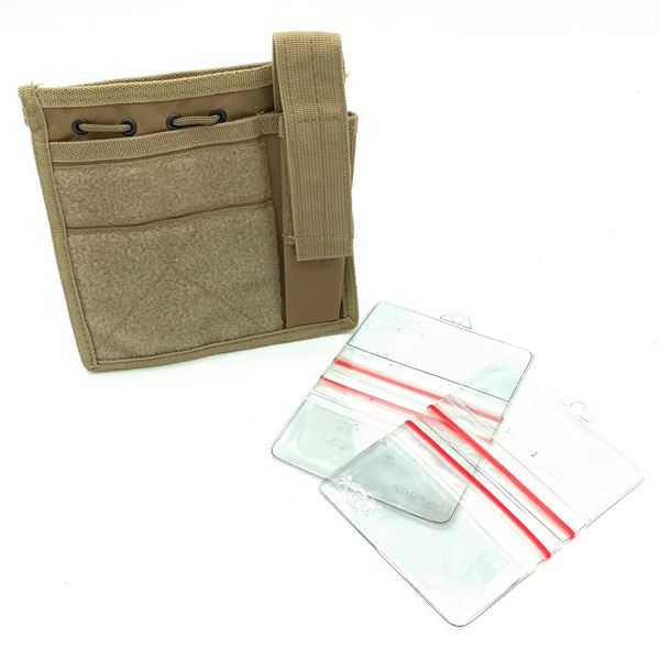 ID Holder and Pouch, Tan