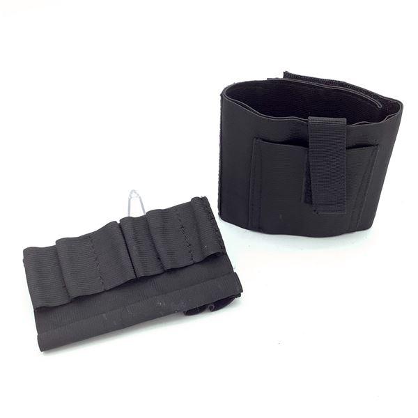 Ammo Holder for 12 Ga X 8 Shells, Velcro Pouch, Blk