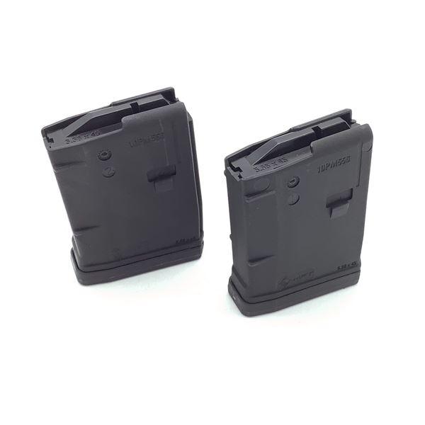 MFT AR-15 .223 / 5.56 Cal Pistol Magazine, 10 Round X 2