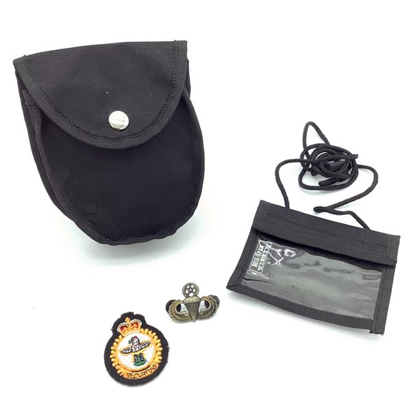 ID Holder, Pouch, MP Badge, Metal Airborne Pin