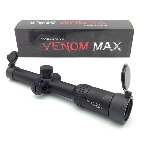 Scorpion Venom Max Tactical 1-6 X 24 mm IR Duplex Reticle, New